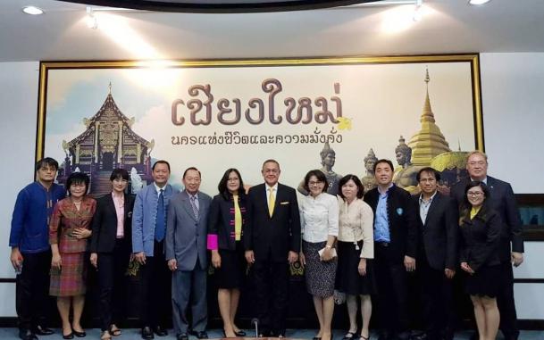 """ภาพกิจกรรม """"ร่วมต้อนรับ MR.GEOFFREY QUINTON MITCHELL DOIDGE  เอกอัครราชฑูตสาธารณรัฐแอฟริกาใต้ประจำประเทศไทยพร้อมคณะ"""""""