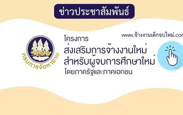 ข่าวสารประชาสัมพันธ์โครงการ Co-Payment (จ้างงานเด็กจบใหม่)